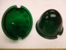 Green Glass Cab Light Lense (3.5')